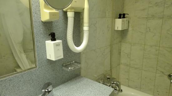 Scandic Marski: mini bathroom.