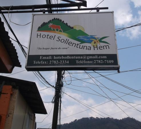 Hotel Sollentuna Hem: The main sign