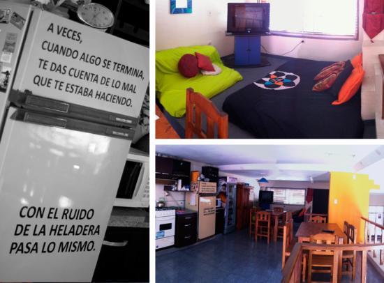 Parana Art Hostel : cocina y video