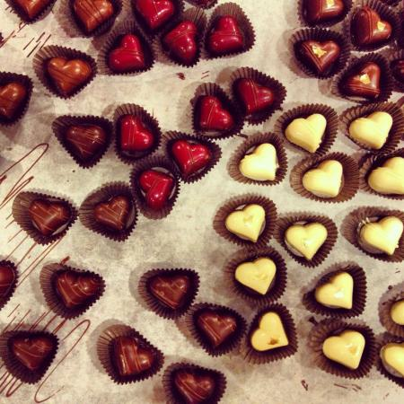 Westbrook, ME: Valentine's Day truffles at Black Dinah Chocolatiers