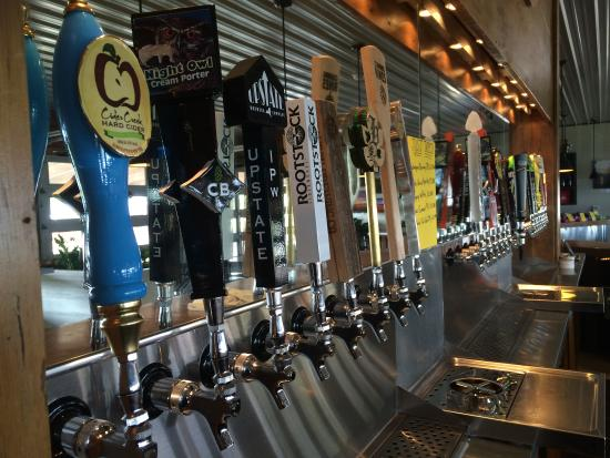 Romulus, NY: 24 taps of local craft beers and ciders!