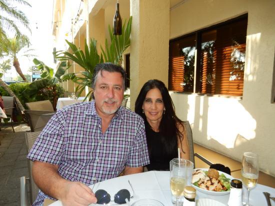ROSARIO CASSATA AND CAROLYN AT FIN BISTRO ON MARCO ISLAND.