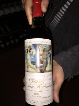 Enoteca Di Ghino: Rare bottle of wine with a label designed by Picasso! 750 EUR. Ghino has wines for every budget.
