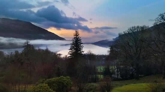 Stunning sunrise at Loch Lomond Country Guest House