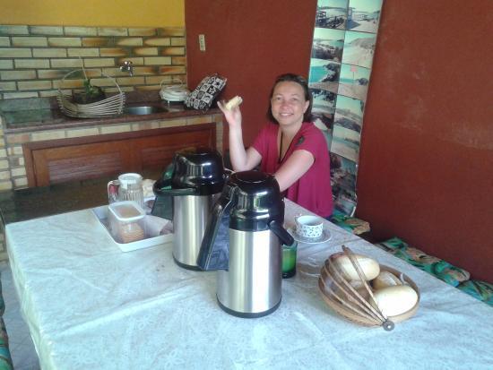 Pousada Caminho do Mar : Café da manhã simples, mas muito saboroso