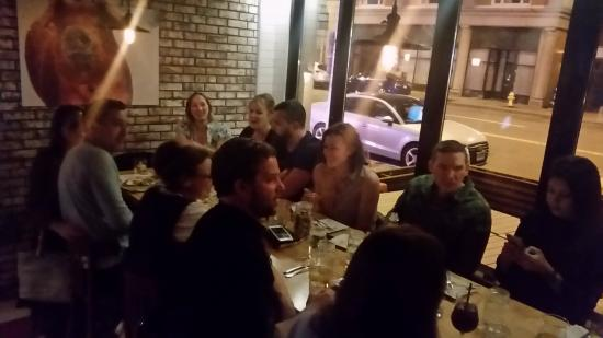 The community table at Bar Sugo. Although this evening me and my entire group of friends had it.