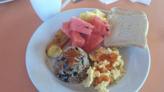 Mamma Rosa Apartahotel: Gallo Pinto for breakfast