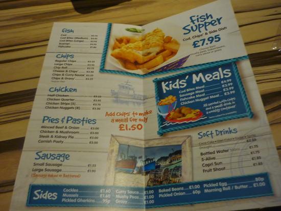 Cook 39 s chwilog restaurant reviews photos tripadvisor for Chucks fish menu