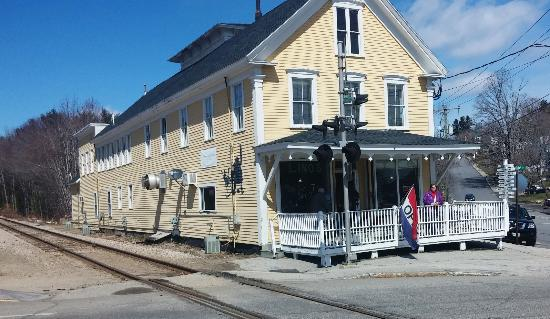 Sanbornville, Nueva Hampshire: Lino's Restaurant - Located inside an old train station