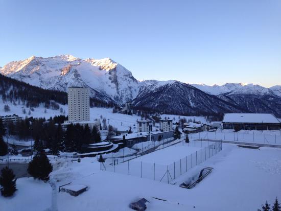 Grand Hotel Sestriere: Vista dalla camera da letto all'alba