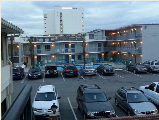 This Is A View Of Hotel From The Laundry Room Across The