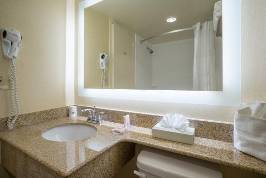 Wyndham Garden Washington DC North/BW Parkway: Newly remodeled in 2016- Guest Vanity-Bathroom