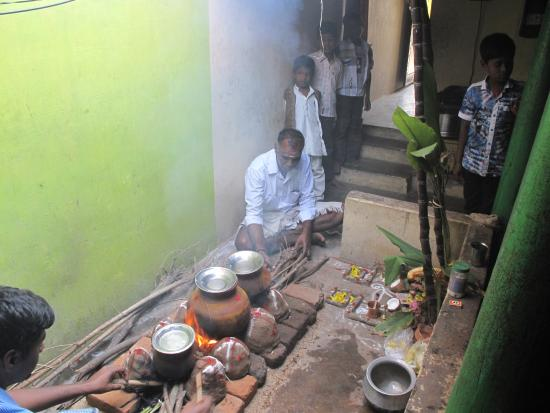 RIDE Guesthouse : Pongal celebration local village