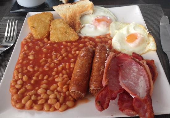 Roldán, España: Full English - with extra beans (minus tomatoes and mushrooms!)