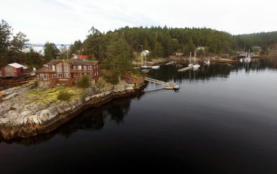 Lund Seaside Inn from the air