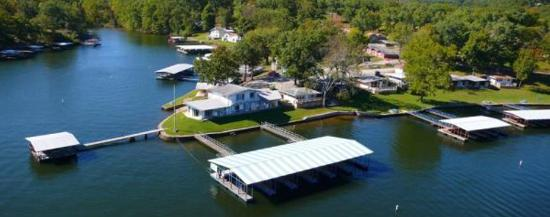 Gravois Mills, MO: Arial view of beautiful Bass Point Resort!