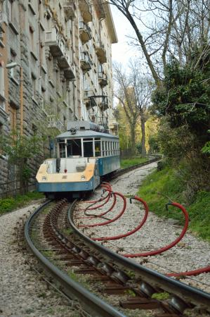 Opicina Tramway: Tram with funicular