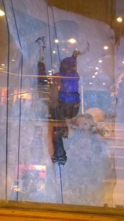 Vertical Chill Ice Wall: Working hard