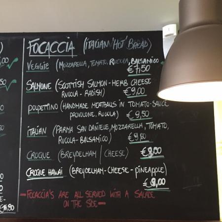 Caffe Rosario - wall menu