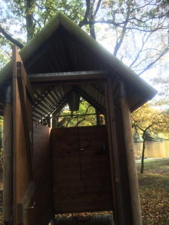 Country House Hideout at Wyresdale Park: The outdoor shower room (private for each tent)