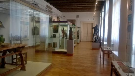 Muzeum Prahy: A picture of the 1st hall covering the Medieval Ages