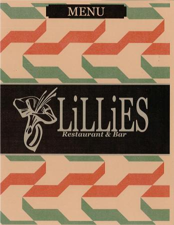 Holiday Inn Westbury: LiLLiES Restaurant and Bar Menu Cover