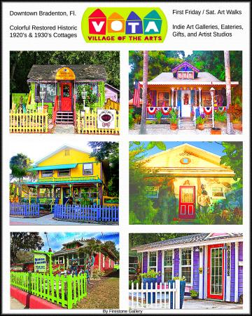 Firestone Gallery poster for sale of Village of the Arts cottages ...