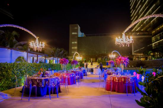 Secrets The Vine Cancun Our Wedding At Night With Beautiful Resort In Back