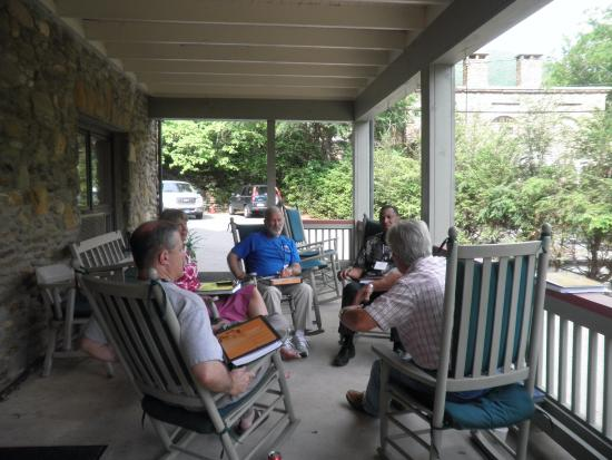 Montreat, NC: The porch has great views and provides a place to regroup at the end of the day.