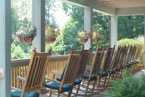 Montreat, NC: The porch before everybody arrives - the calm before the storm!