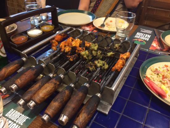 table grill picture of barbeque nation navi mumbai tripadvisor rh tripadvisor com