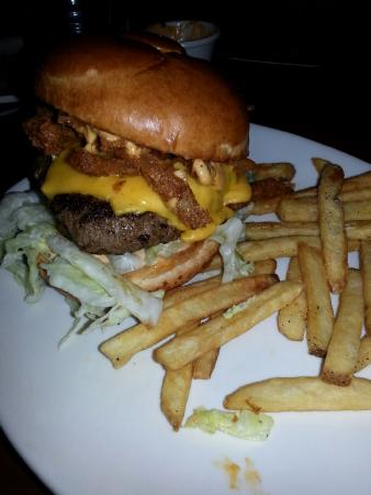 Outback Steakhouse : Bloomin Burger but skimpy on fries. Still delicious though.