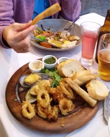 a really nice seafood platter