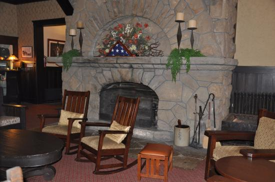 lobby with stone fireplace picture of historic summit inn rh tripadvisor com