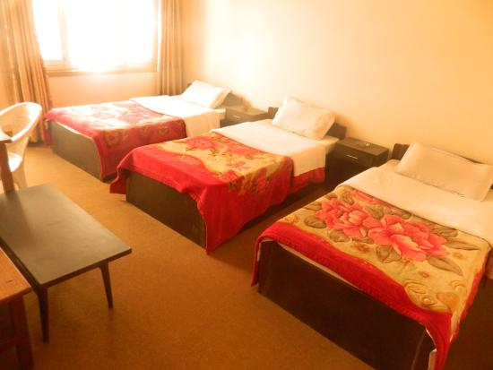 Om Tara Guest House: Triple room with private bathroom.