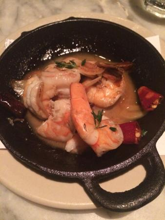 Barcelona: Shrimps with almonds