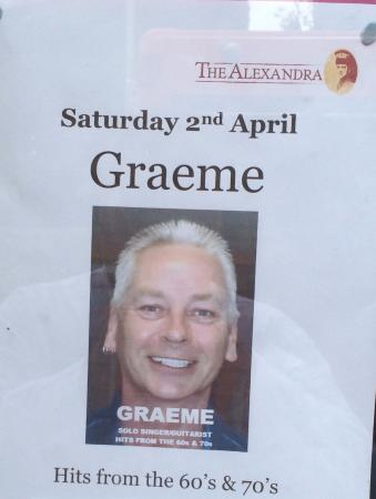 The Alexandra: Sadly, we did not experience the music or Graeme #anothertime