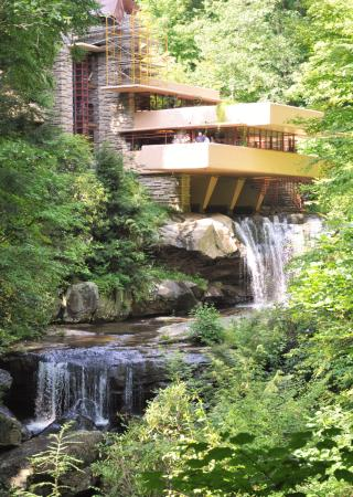 Fallingwater: View of structure above the waterfall
