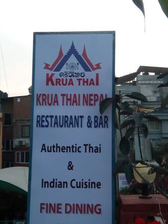Krua Thai Restaurant : New hording board