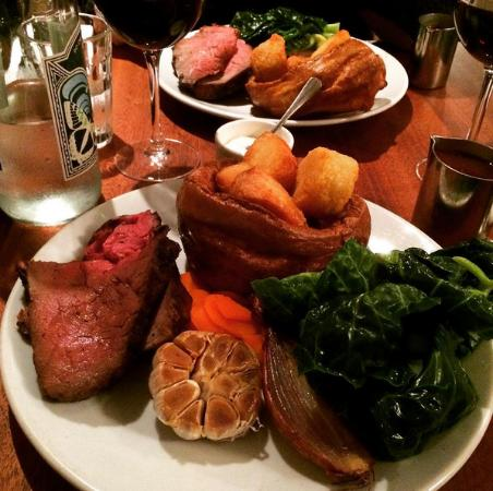 Hawksmoor Sunday Roast >> Oysters & homemade sausages AMAZING - Picture of Hawksmoor Spitalfields, London - TripAdvisor