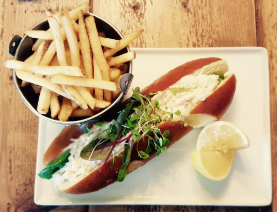 The Pepys: Crab Mayo Roll with Fries