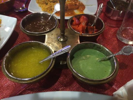Tantra : Chutneys served with free appetizer