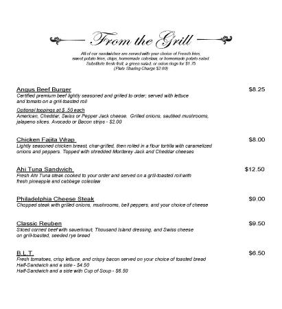Hertford, NC: Lunch Menu_Page1