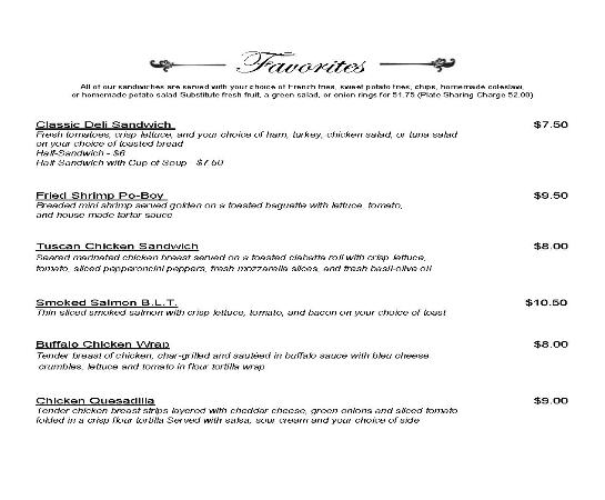 Hertford, NC: Lunch Menu_Page2