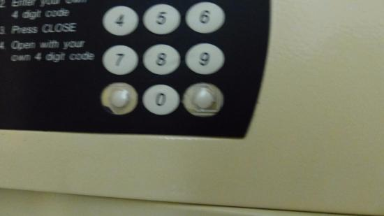 Capetonian Hotel: onbruikbare kluis