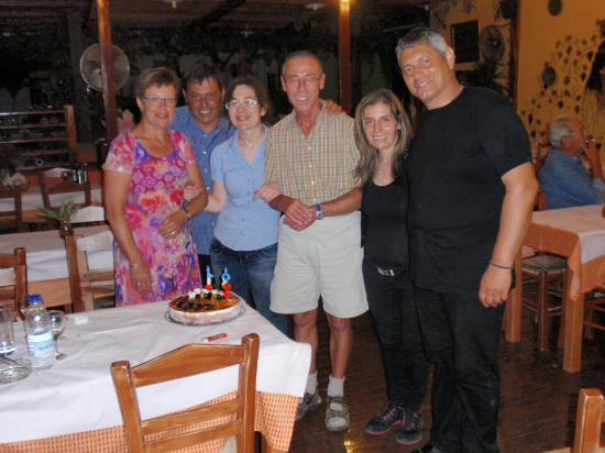 Dionysos Restaurant : The owners and wife's with 2 dear friends celebrating their 31 wedding anniversary at 20 June 20