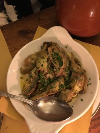 Osteria del Cinghiale Bianco : Sauteed artichokes