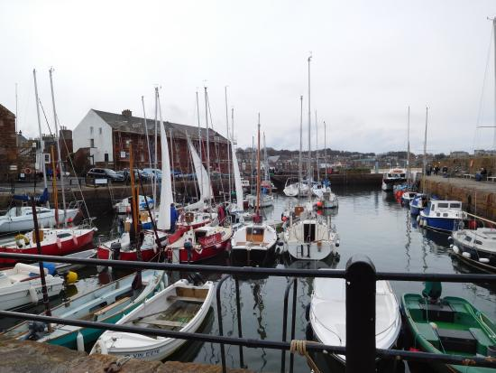 North Berwick harbour where the Lobster Shack is located