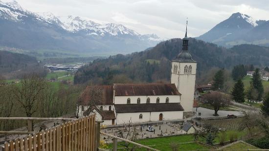 La Gruyère, Schweiz: A cidade medieval do queijo Gruyere