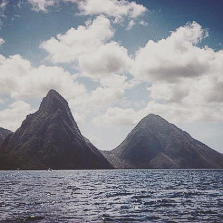 Cap Estate, Saint Lucia: The Pitons on scuba trip from the resort